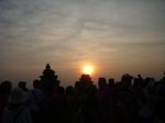 プノン・バケンより夕陽を望む 2009年12月28日アンコールワット 010.jpg