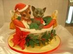 子猫と子犬のケーキ2010年12月紅葉茶会・クリスマス 016.jpg